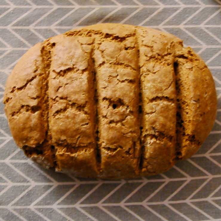 whole loaf of German bread mixed-grain rye bread (Roggenmischbrot)