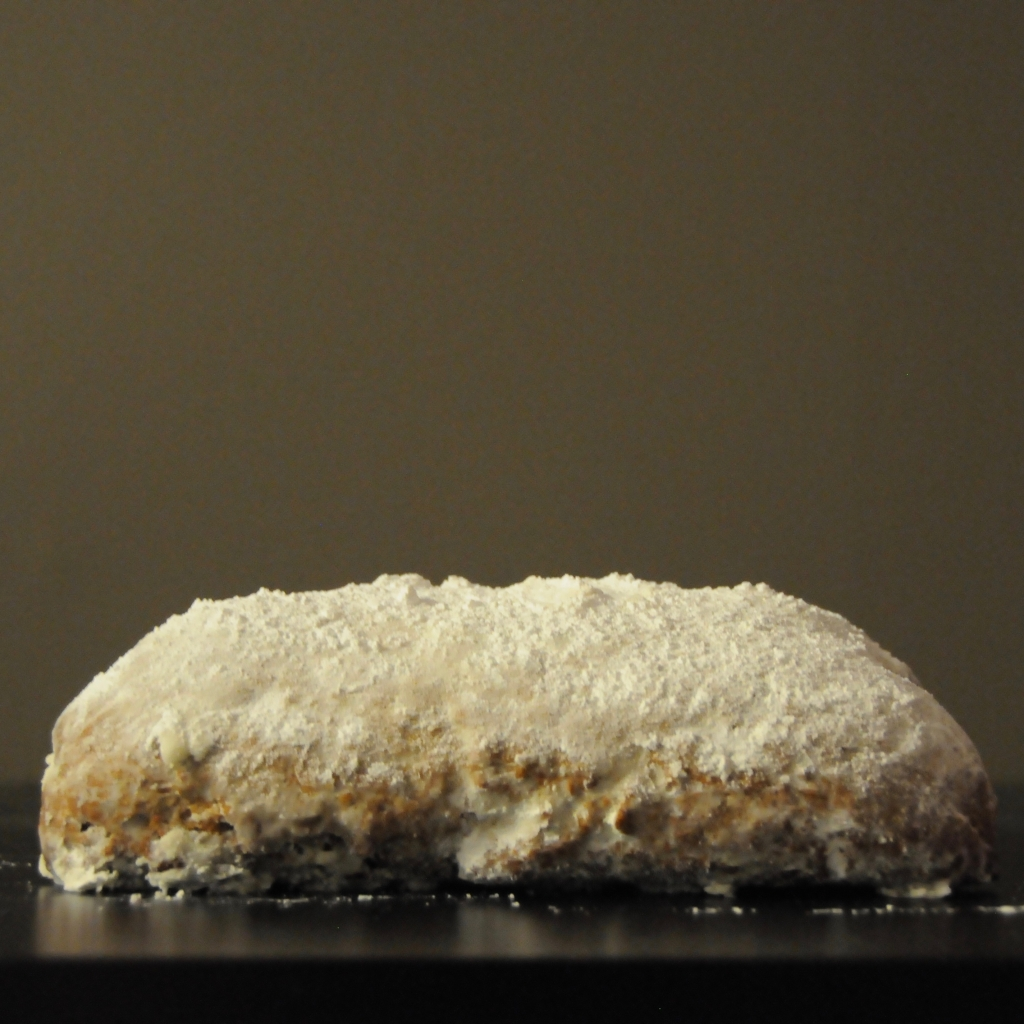 loaf of almond stollen