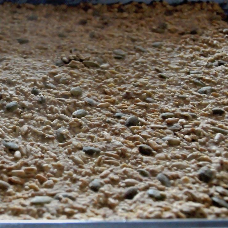 German crisps-bread on a baking sheet