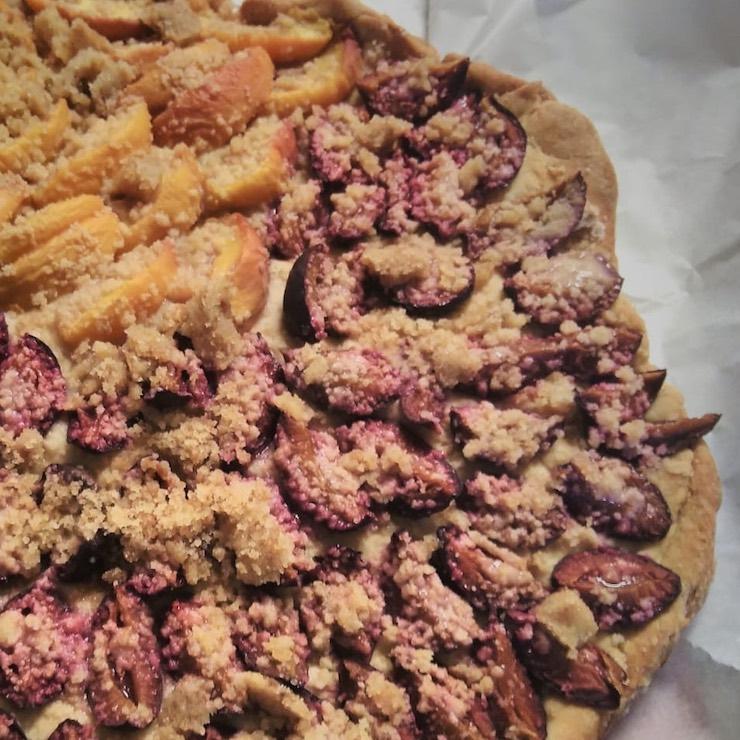 German plum cake (Zwetschgenkuchen)
