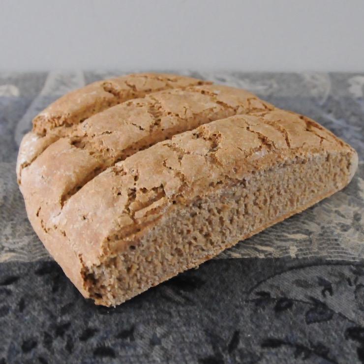 half a loaf of German bread mixed-grain rye bread (Roggenmischbrot)