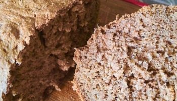 cut loaf of whole wheat bread